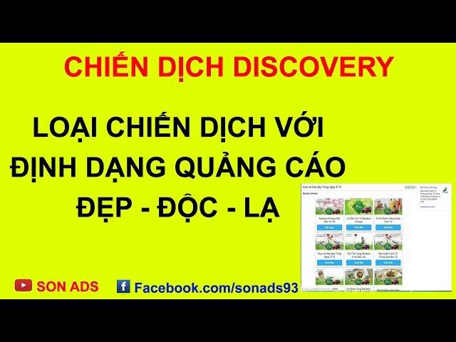 [SON ADS] Chiến Dịch Khám Phá/ Discovery Với Định Dạng Quảng Cáo Đẹp Độc Lạ