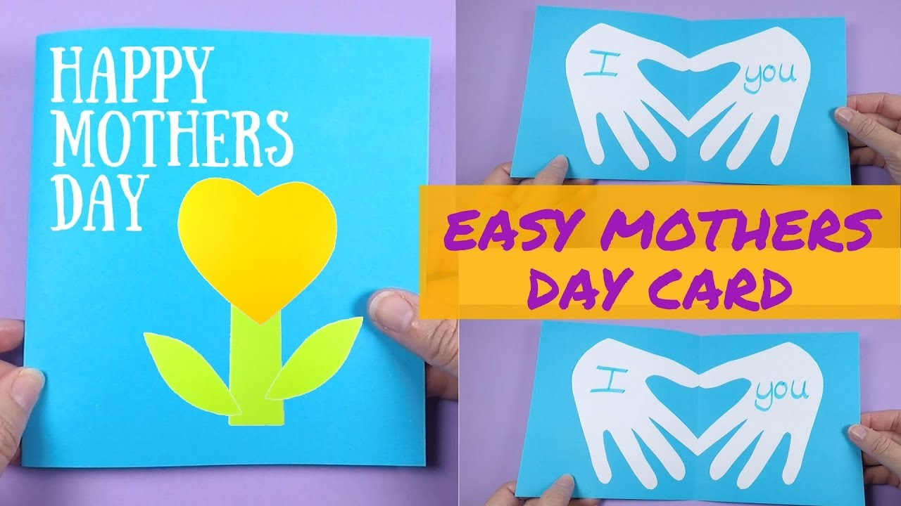 Easy Mothers Day Card   Mothers Day Ideas for Kids