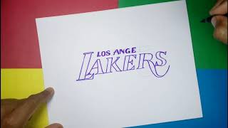 How to draw the Official Logo of the Los Angeles Lakers