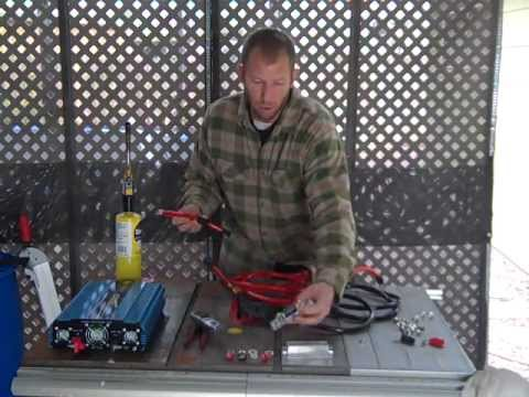 How to install an inline fuse holder and how to crimp battery cables for your power inverter