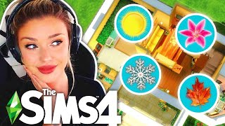 🌞The Sims 4 But Every Room is a Different SEASON 🌺 HOUSE BUILD CHALLENGE