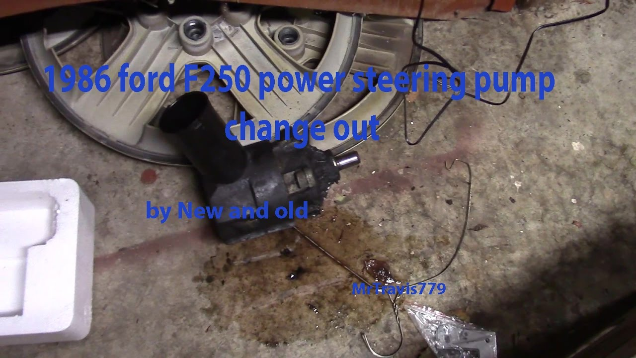 1986 Ford F250 Power Steering Pump Change Out Youtube Belt Diagram For A F 250 5 8 Engine