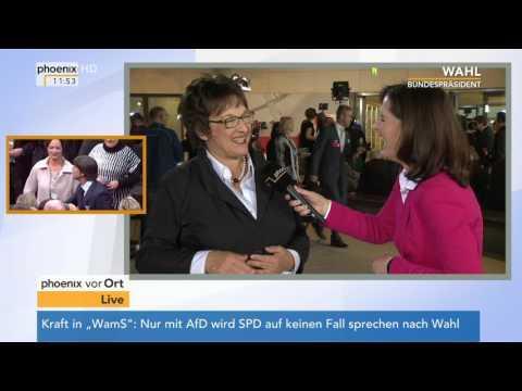 Wahl des 12. Bundespräsidenten: Brigitte Zypries im Interview am 12.02.2017