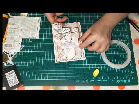 видео: Винтажная открытка своими руками
