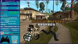 GTA San Andreas Any% Speedrun - Hugo_One Twitch Stream - 12/31/2019