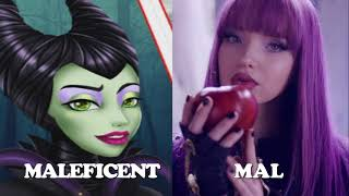 Descendants 1 and 2❤Parents and Children of Disney Villains and Heroes-Starfamous
