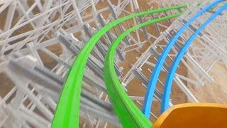 Twisted Colossus (On-Ride Front) Six Flags Magic Mountain