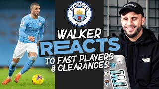 KYLE WALKER | 'KDB with the ball is very, VERY quick' | Who is the Quickest player at Man City?