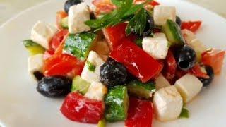 Греческий салат по-цыгански. Летний салат. Gipsy cuisine.