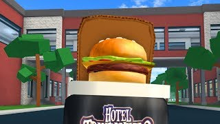 HOW TO BE A GIANT BURGER IN ROBLOXIAN HIGHSCHOOL!!