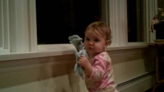 aviana playing with new stuffed toys christmas 2015