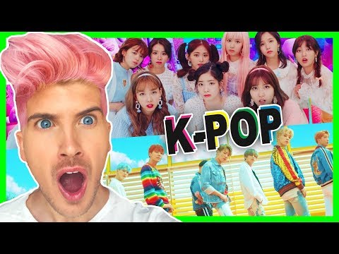 REACTING TO K-POP MUSIC VIDEOS! BTS, TWICE & More