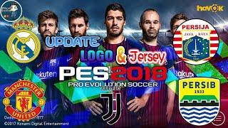 Cara Mengubah Atau Update Logo dan jersey PES 2018 MOBILE || Tutorial 2017