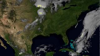 NOAA Satellite Sees Lightning Flashes from Several Storms Across US