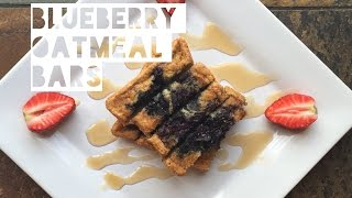 Healthy Low Fat Oatmeal Bar Recipe | How To Make Low Calorie Oatmeal Blueberry Breakfast Bars