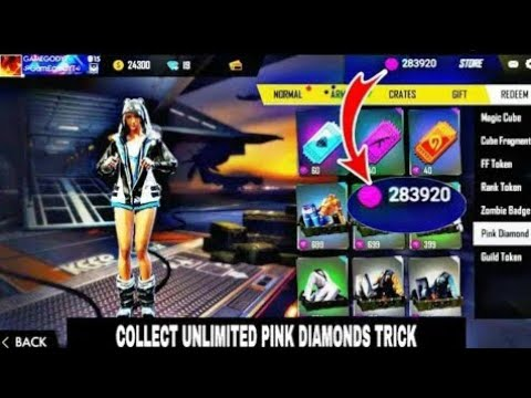 How To Get Unlimited Pink Diamonds Token In Free Fire 2020 Youtube