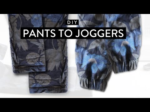 DIY: Pants to Joggers • Imdrewscott