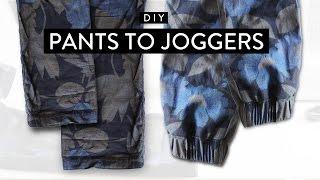 DIY: Pants to Joggers • Imdrewscott