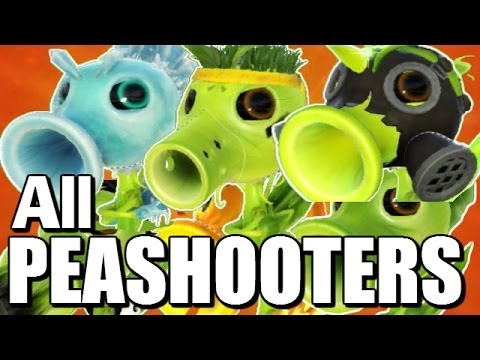 """All Peashooters"" - NEW CHARACTERS - Plants Vs Zombies Garden Warfare"