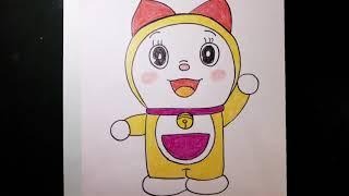 Cách vẽ doraemi/ how to draw doraemi/Ngọc NguyễnTV/vẽ nhân vật hoạt hình