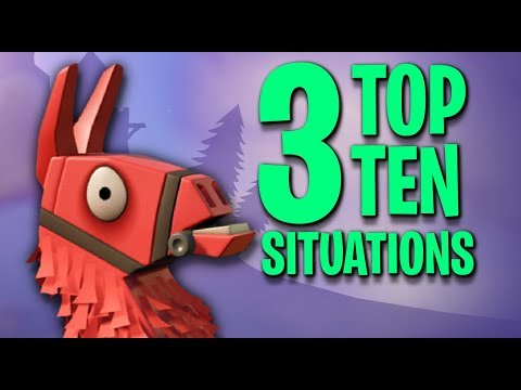 3 Top 10 Situations! Fortnite Battle Royale Solo Wins!