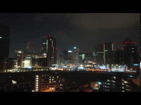 Time lapse of Osaka Downtown from Westin