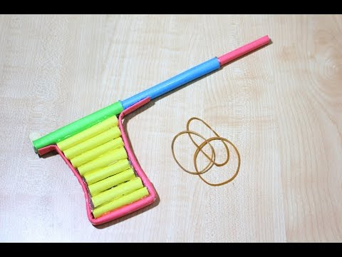 How to make a Paper BB gun at home | paper pistol tutorial