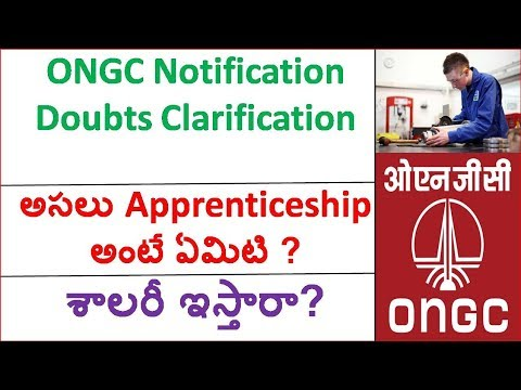 ONGC Apprenticeship Notification Doubt clarification || what is apprenticeship in telugu