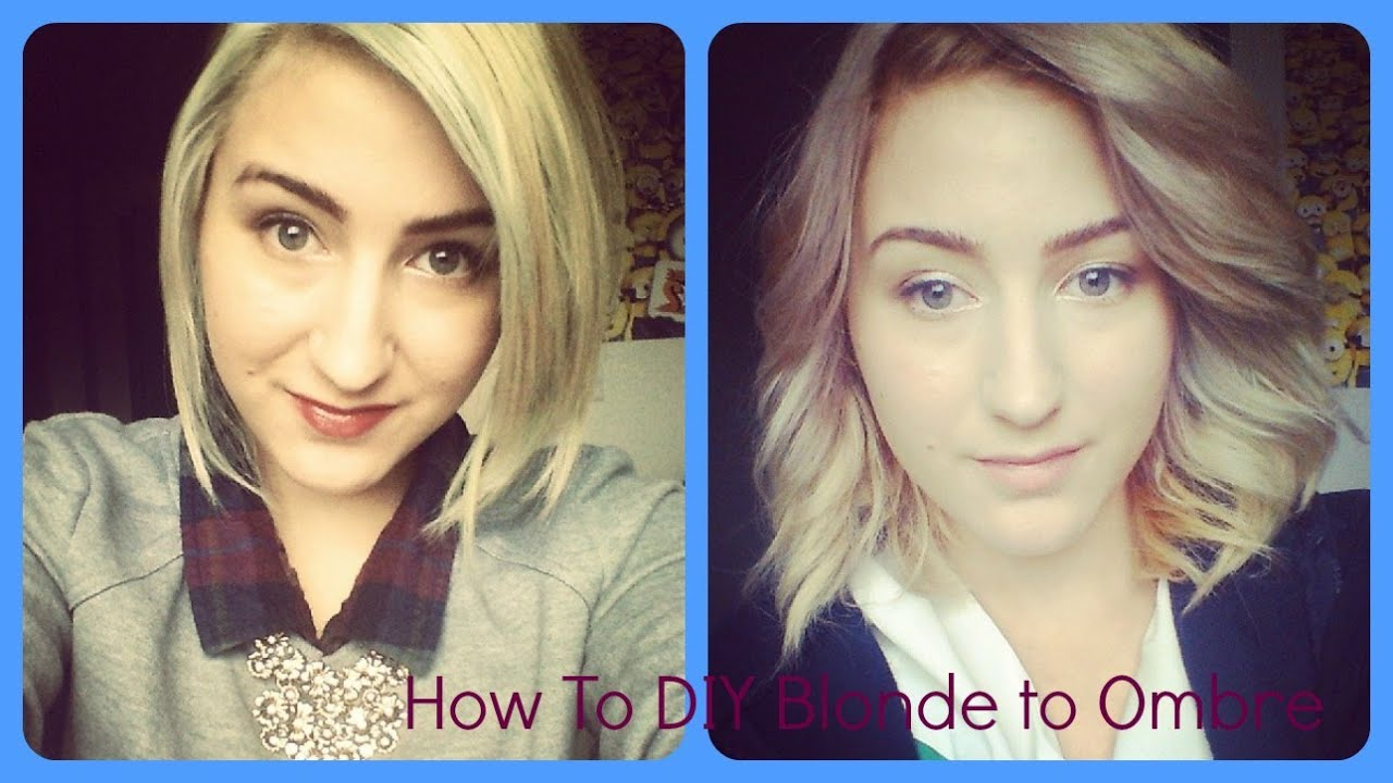How To Diy Blonde To Ombre Youtube
