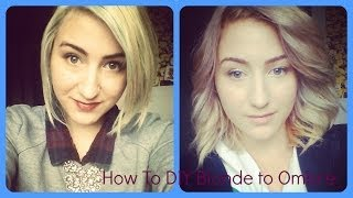 How To; DIY Blonde to Ombre(My hair was too white. So I deiced to make it Ombre. Using nice and easy dark champagne blonde. There isn't many videos on how to get ombre from blonde, ..., 2014-05-18T22:40:36.000Z)
