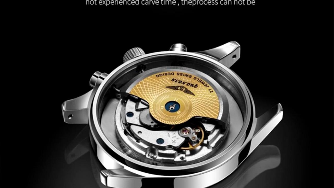 Распаковка и первый обзор часов <b>GUANQIN</b> model:16012 ...