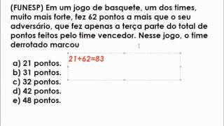 Resolução De Uma Questão De Raciocínio Lógico Matemático da FUNESP.