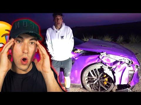 REACCIONANDO A ACCIDENTES DE MI COCHE! *Nissan GT-R*