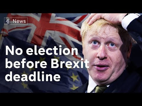 Boris Johnson rules out election before Brexit deadline