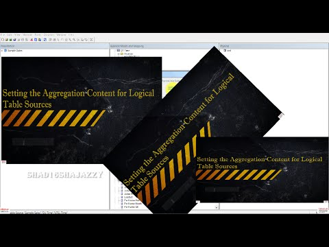OBIEE Building Repository -Setting Aggregation Content for Logical Table Source - Shad 11