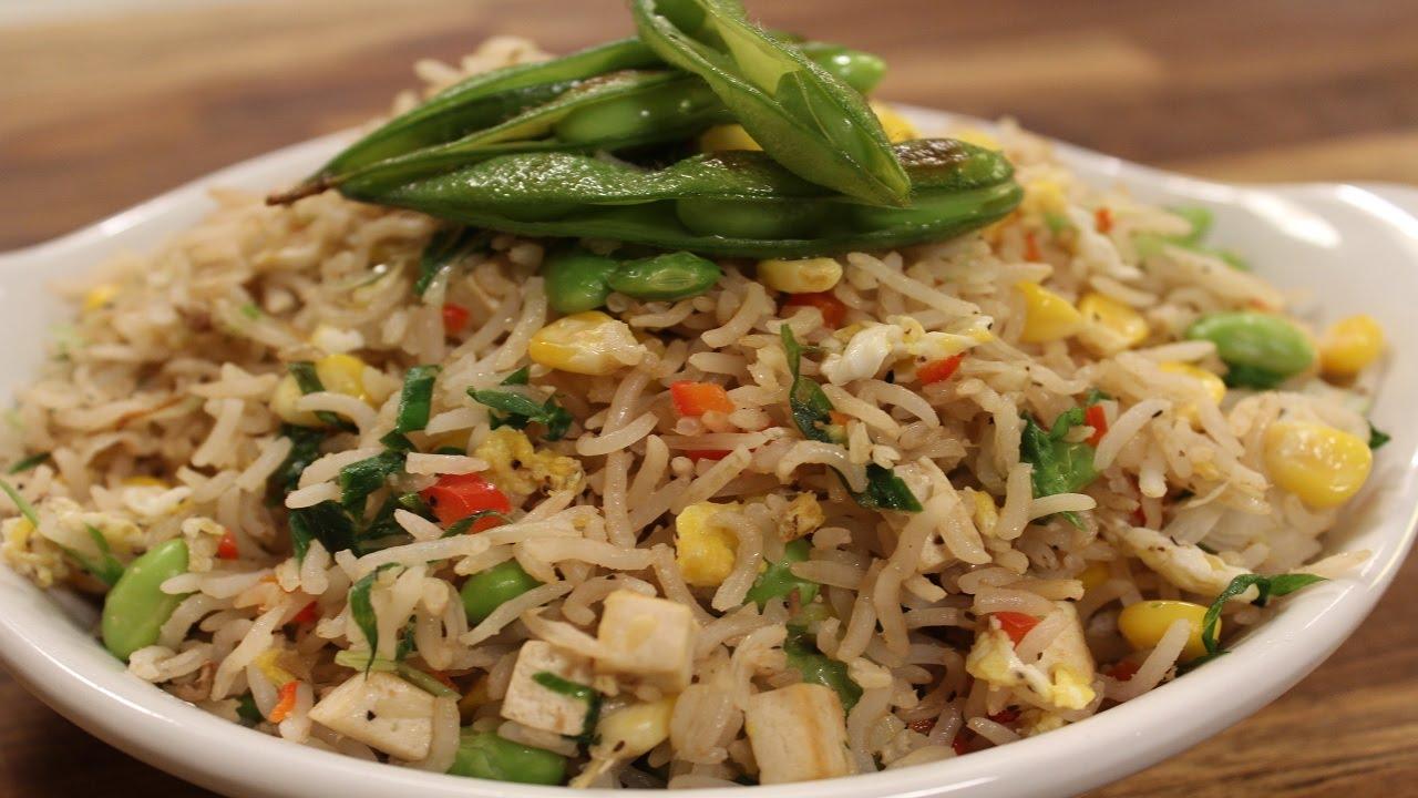 Fried rice with tofu edamame sanjeev kapoor khazana youtube forumfinder Image collections