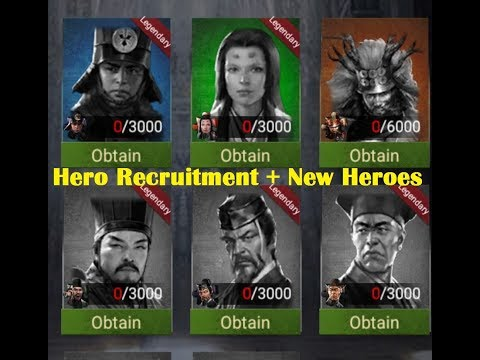 BIG UPDATE! Clash Of Kings - Hero Recruitment + New Heroes!!