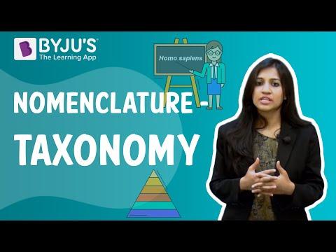 Taxonomy 03 - Nomenclature