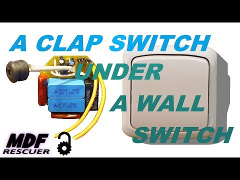 A CLAP SWITCH UNDER A WALL SWITCH OPEN SOURCE PROJECT