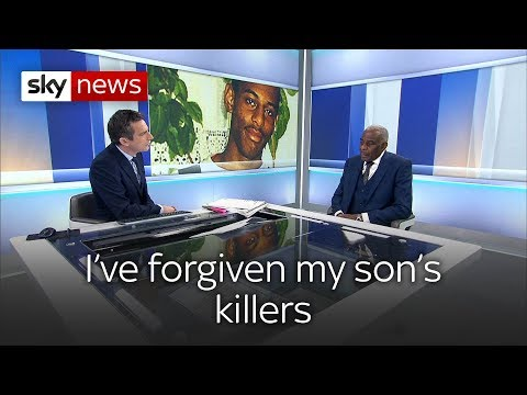 Dr Neville Lawrence says he's forgiven his son's killers