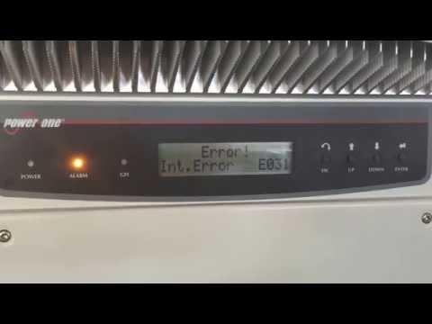 Power One Inverter Int. Error E031