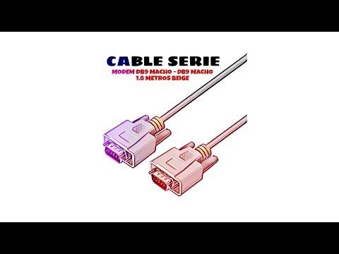 Video de Cable serie null modem DB9 macho - DB9 macho 1.8 M Beige
