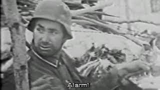 Немецкая военная кинохроника.Оборонительный бой зимой
