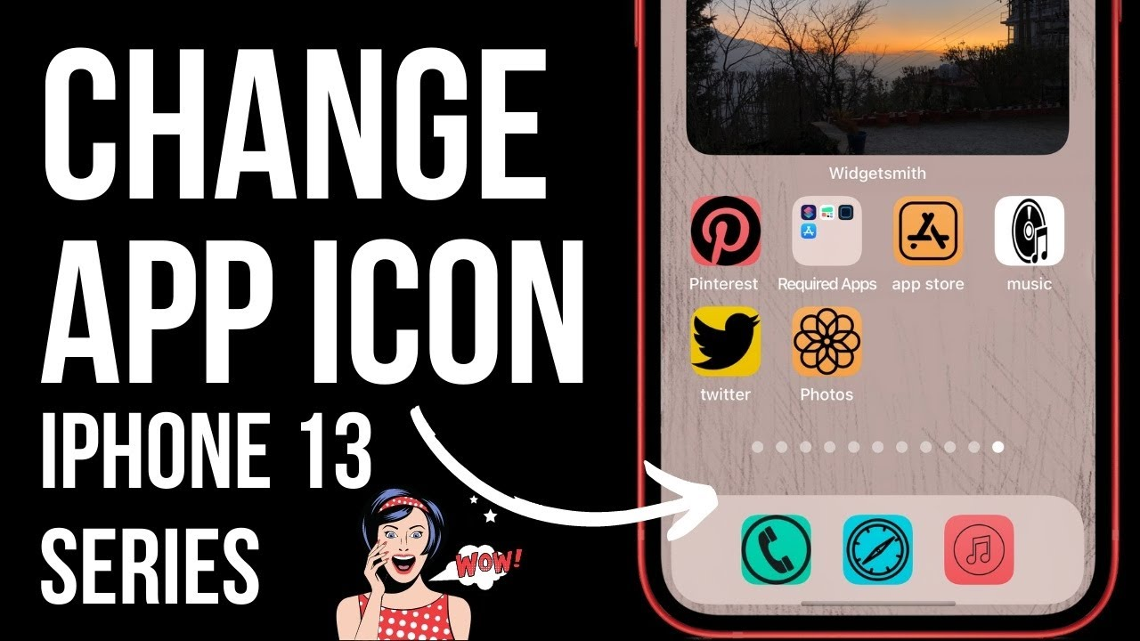 Iphone 12 Pro Max Mini How To Change App Icons In Ios 14 In 2020 Home Screen Layout Ideas Youtube