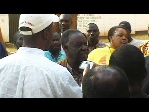 Michael Sata being arrested July 23rd 2005, Lusaka, Zambia