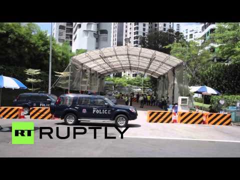 Singapore: Police shoot man near Asia Security Summit venue
