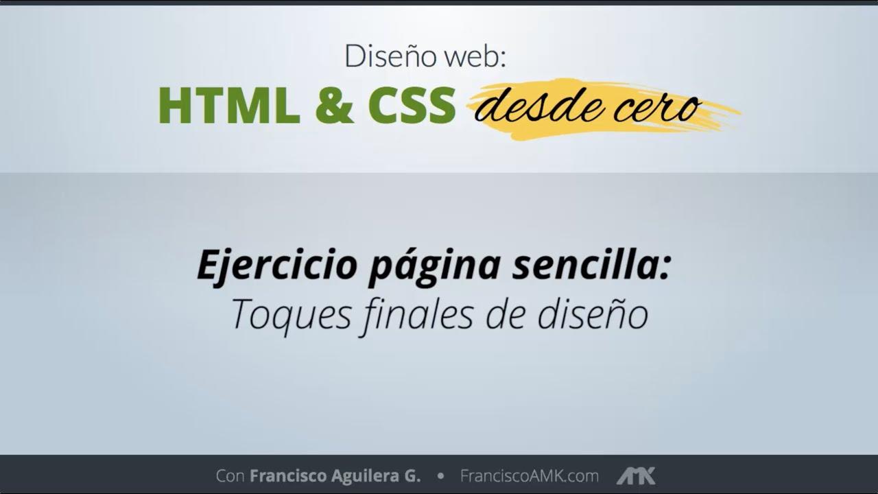 HTML y CSS Desde Cero – 21. Ejercicio Página Sencilla