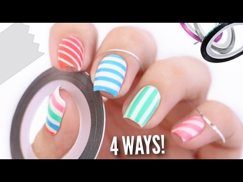 4 Ways To Easily Get Perfect Striped Nails!