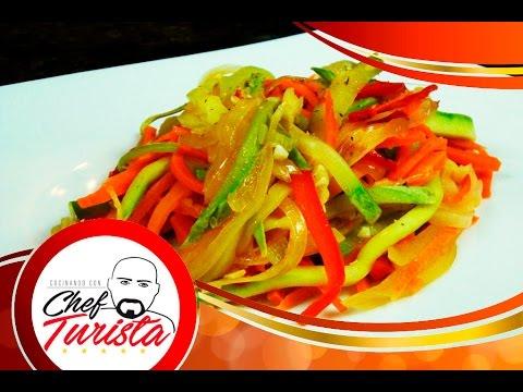 Como hacer una deliciosa ensalada de vegetales salteados - Como hacer verduras salteadas ...
