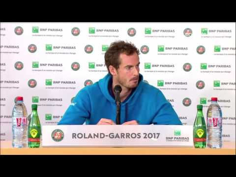Andy Murray Press Conference RG17 - 5th of...